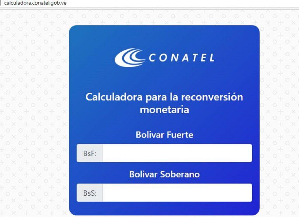 Aquí esta la calculadora digital de la reconversión monetaria ...